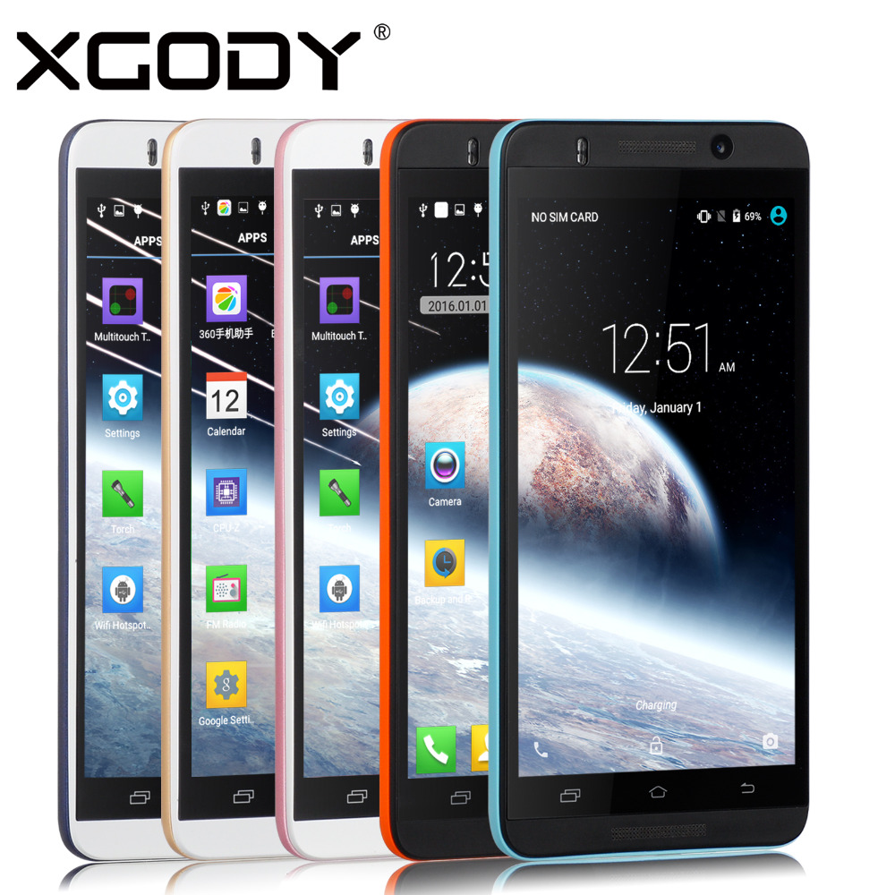 """XGODY X800 Unlocked 5"""" Android 5.1 Smartphone Quad Core QHD Screen 3G Mobile Phone For Tmobile AT&T US AU DE In Stock(China (Mainland))"""