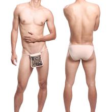 Men's Low rise Belt Cotton Japanese Underwear Briefs Fun stage Gay bar show wear(China (Mainland))