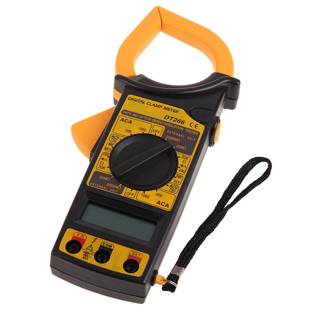 New Portable AC DC Voltage LCD Digital Clamp Multimeter Electronic Tester Free Shipping<br><br>Aliexpress