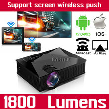Smartphone Mobile WIFI Home Theater HDMI USB LCD Video uC60 Portable Mini 1080p HD LED Projector Proyector For Iphone Android(China (Mainland))