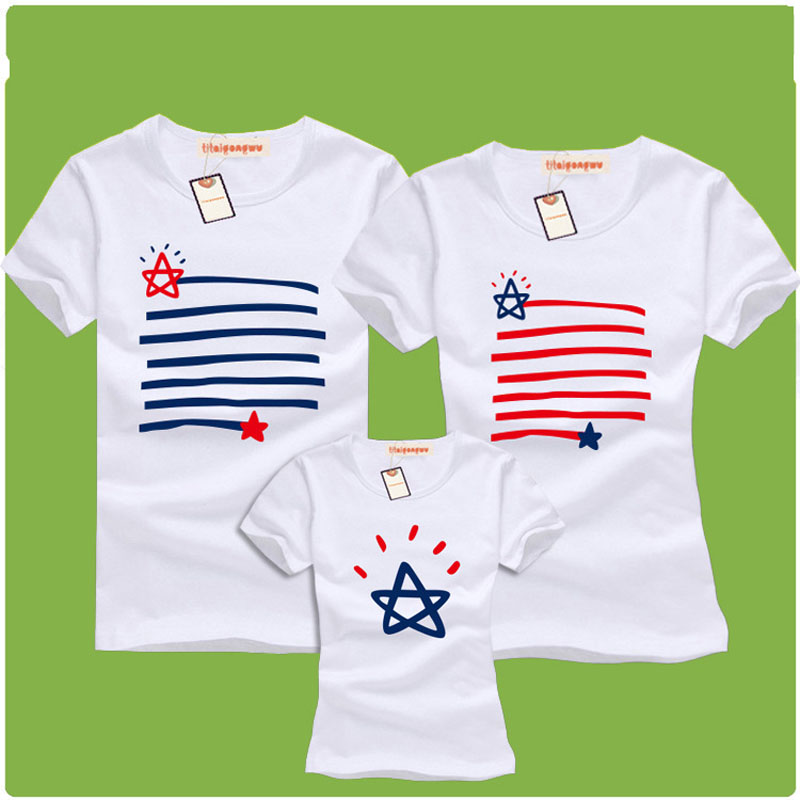 summer navy stripe family matching outfits  2016 new mother &amp; father &amp; baby  family clothes family short-sleeved cotton T-shirt<br><br>Aliexpress