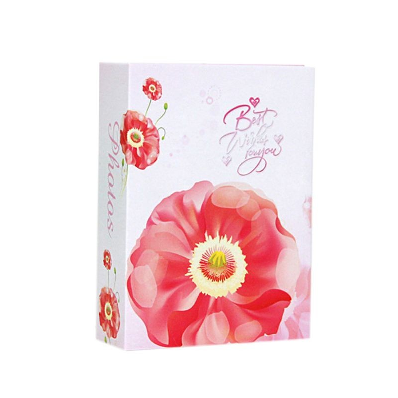 "6"" 100pcs Storage Hold Case Wedding Photo Scrapbook Gift Flower Photo Album Memory Pictures  New"