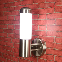 Free Shipping Stainless Steel LED Wall Sconce Outdoor Aisle LED Spot Lights Wall Lamp Acrylic E27 Garden Yard Fixture Light IP65(China (Mainland))