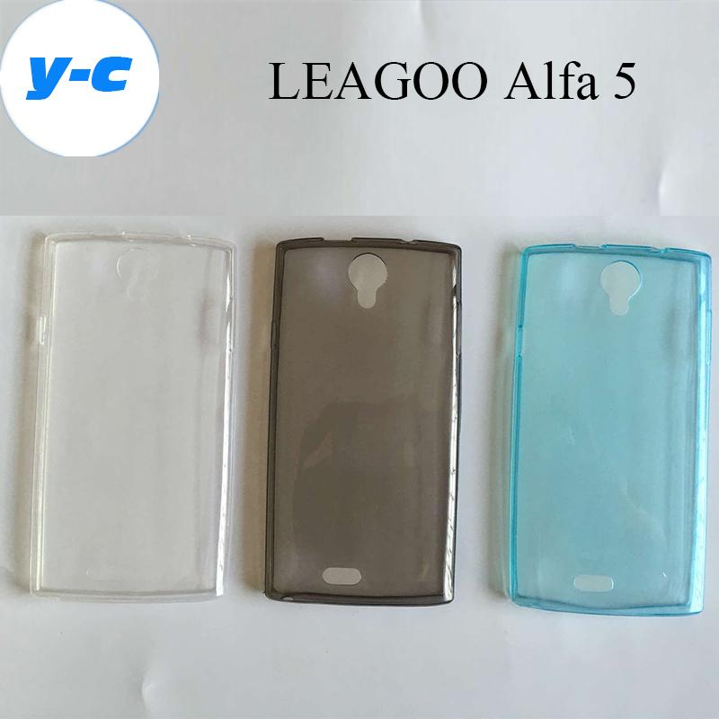 LEAGOO Alfa 5 Case New Original TPU Silicon Soft Protective Shell Back Cover For Leagoo Alfa 5 Cell Phone Free Shipping-In Stock(China (Mainland))