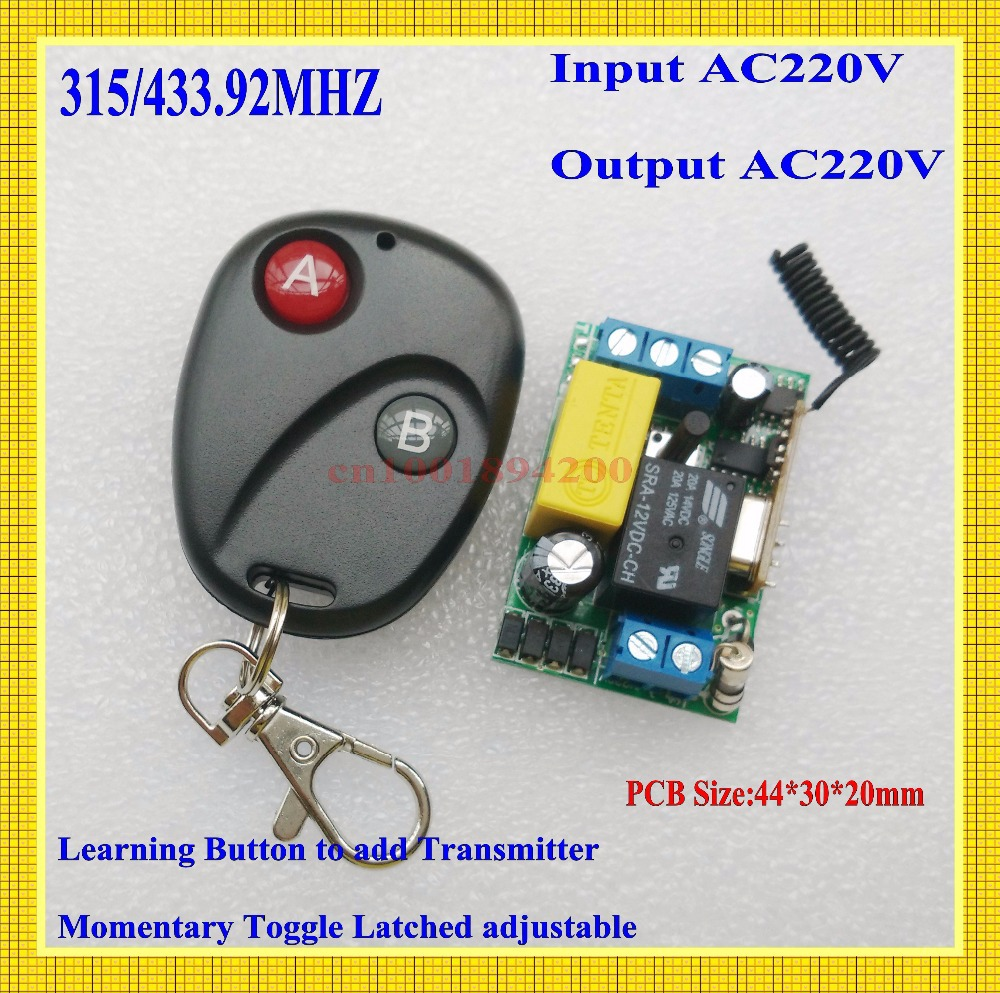 Гаджет  AC220V Mini Size Radio Remote Control Lighting Power ON OFF Switches System Learning Code Momentary Toggle Latched 315/433MHZ None Свет и освещение