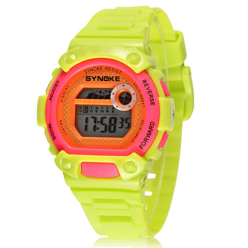 SYNOKE Shockproof Digital Watch Sports Alarm Stopwatch Hour 30M Waterproof Dress Watches Children's Night Light function Clock(China (Mainland))