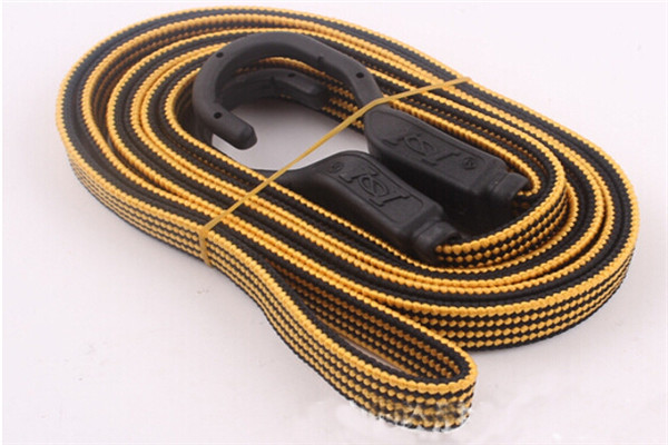 Yellow High quality rubber Motorcycle/bike helmet luggage bag Elastic rope Fixed elastic Net Twine car accessories pedal rope(China (Mainland))