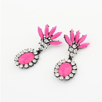 E0151 2015 New Spring trendy fashion fluorescence color stud Earrings for women jewelry Factory Price