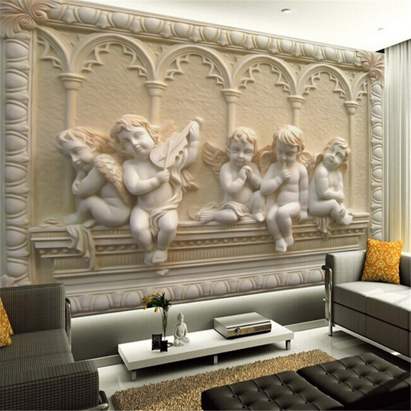 Custom 3d mural wallpaper european style 3d stereoscopic for Images of 3d wallpaper for bedroom