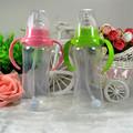 240ml Cute Baby bottle Infant Newborn Children Learn Feeding Drinking Handle Bottle Kids Straw Juice Water