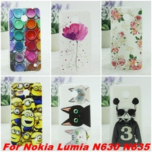 Taken New Arrival Design Pattern Hard Back Case Cover For Nokia Lumia 630 N630 N635 N636 N638 Cell Phone Shell(China (Mainland))