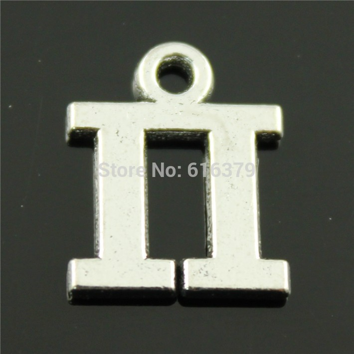 Free Shipping 20Pcs Antique Silver Pi Symbol Charms Pendants for Jewelry Making charm Handmade DIY 17*13mm(China (Mainland))