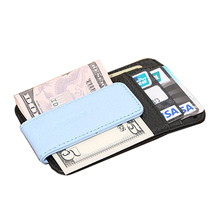 One Piece Wallet with Money Clip simple style Top Quality Leather Purse for Man Wallets Black Free Shipping(China (Mainland))
