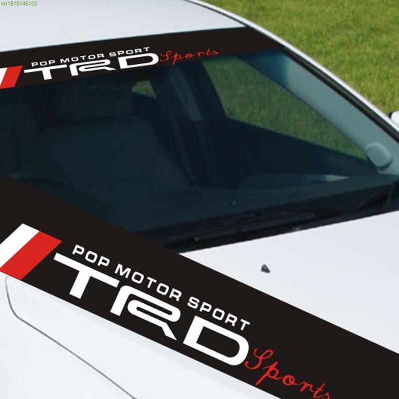 TRD WRC SSR TOPLINE design car styling refit sticker on windshield fashion car front window decor