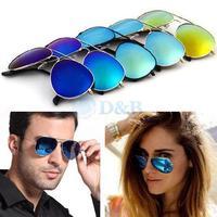 New 2015 Fashion Sunglasses Men Women Girls Cool Bat Mirror UV Protection Aviator Sun Glasses Eyewear Accessories