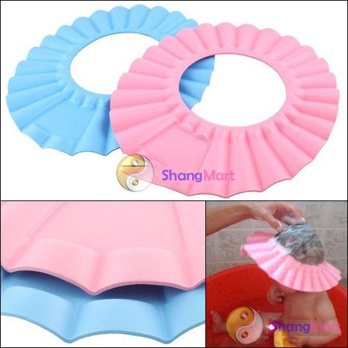 Free shipping: Soft Baby Kids Children Shampoo Bath Shower Cap Hat New wholesale Wateproof Infant Proceting Caps(China (Mainland))