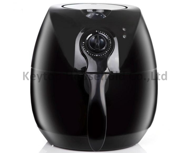 High Quality Low Fat Air Fryer With Rapid Air Technology - Black, Timer, Adjustable Thermostat, Automatic Shut-Off, Cord storage