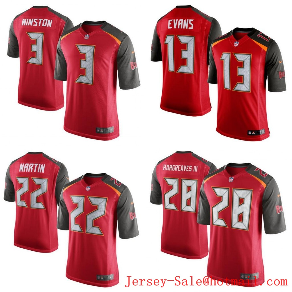 100% Stitiched,Tampa Bay Buccaneers,#3 Jameis Winston,#13 Mike Evans,#22 Doug Martin,Vernon Hargreaves,Warren Sapp,customizable(China (Mainland))