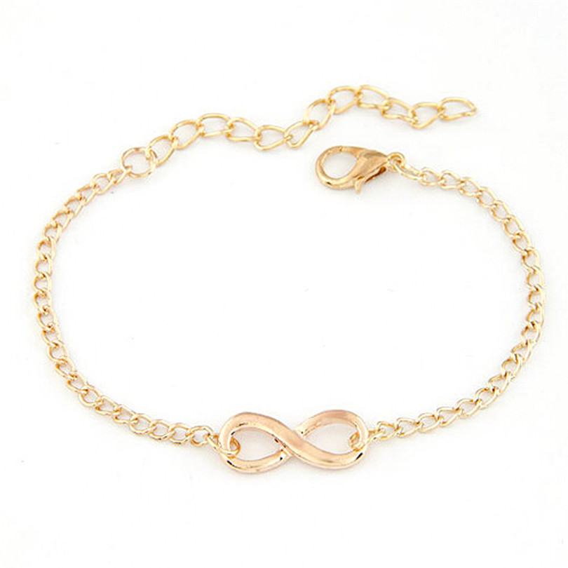 Durable 2016 New Arrival Women Men Handmade Gift Charm 8 Shape Jewelry Infinity Bracelet Women Anklets(China (Mainland))
