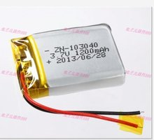 Wholesale 3.7V lithium polymer battery 103040 1200mAh new toy batteries MP3 MP4 navigation