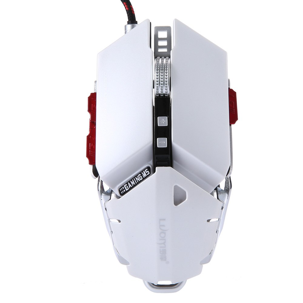 G10 250 - 4000 DPI LED Optical USB Wired Gaming Mouse Support User Defined Macro Programming with 10 Keys Colorful Light(China (Mainland))