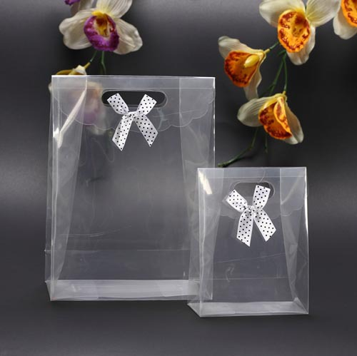 10 Small 16.5*12.5*6CM Transparent PP Stand-up Packaging Bag gift, cosmetics, make - Gift Store store