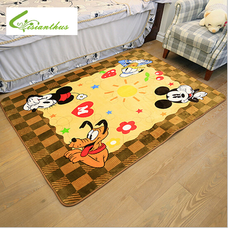 2016 Cute Mickey Non-Fading Carpet Non-Slip Door Floor Baby Mat Water Absorption Rugs And Carpets for Living Room Bedroom(China (Mainland))