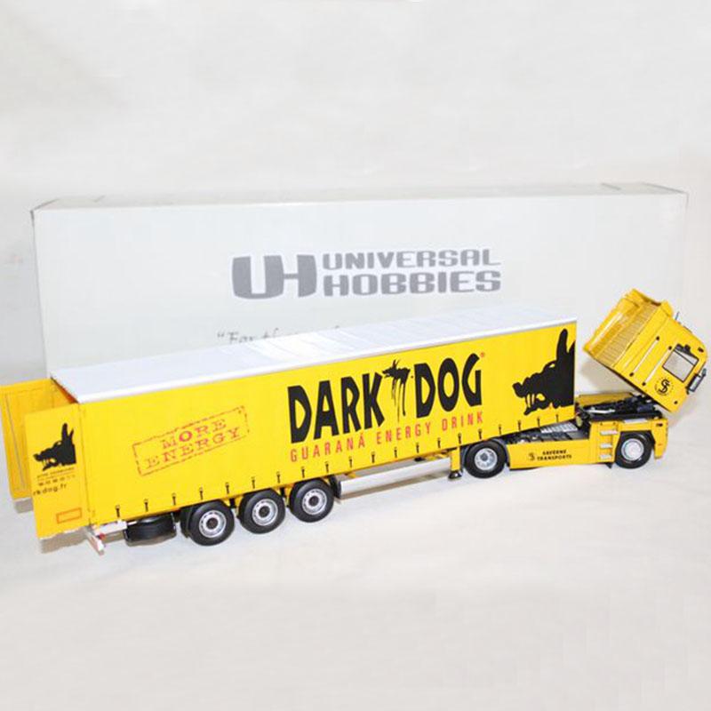 Diecast Toy cars UH 1:50 Renault Magnum Truck Dark Dog trailer 5685 Universal Hobbies(China (Mainland))