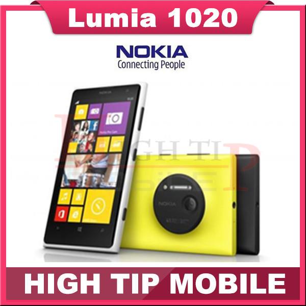 "Free gift! Nokia Lumia 1020 original mobile phone unlocked 4.5"" Touch screen 41.0MP Camra 32GB ROM 2G Dual core WIFI Refurbished(China (Mainland))"