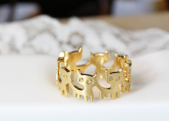 Fashion cute kitten ring, head to tail animal rings for women, Antique Silver Plated rings wholesale free shipping<br><br>Aliexpress