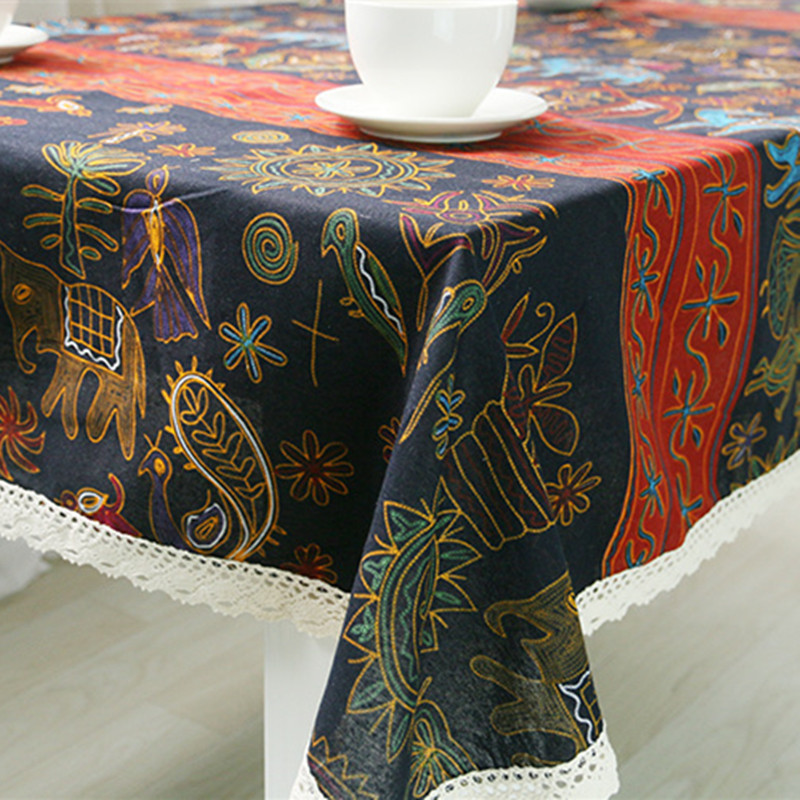 Tablecloth southeast wind lace Tablewear for Dining party banquet Table Cover Rectangle/Round folk-custom printed home textile(China (Mainland))