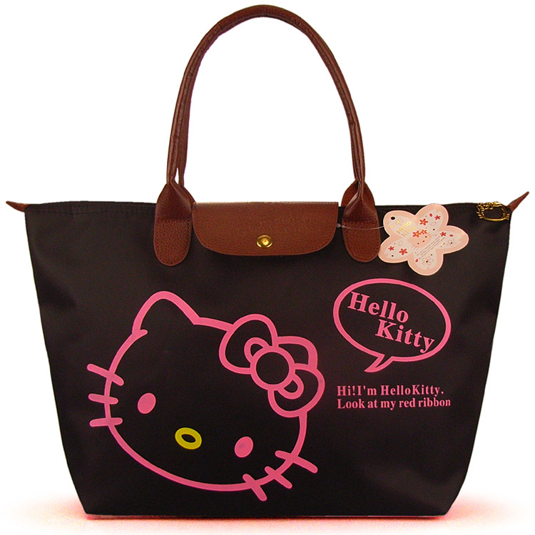 Waterproof shopping bag shoulder bag black cat big bags Shopping Bag Series(China (Mainland))