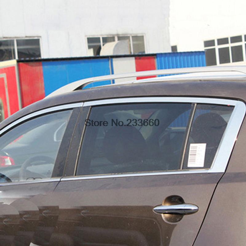 2010-2012 Kia Sportage window trims covers Stainless steel 8pcs<br><br>Aliexpress