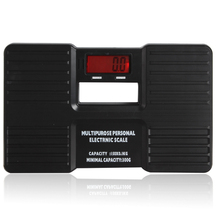 Black Multipurpose Mini Digital Portable Body Health Weight Measuring Electronic Scale with LCD Display(China (Mainland))