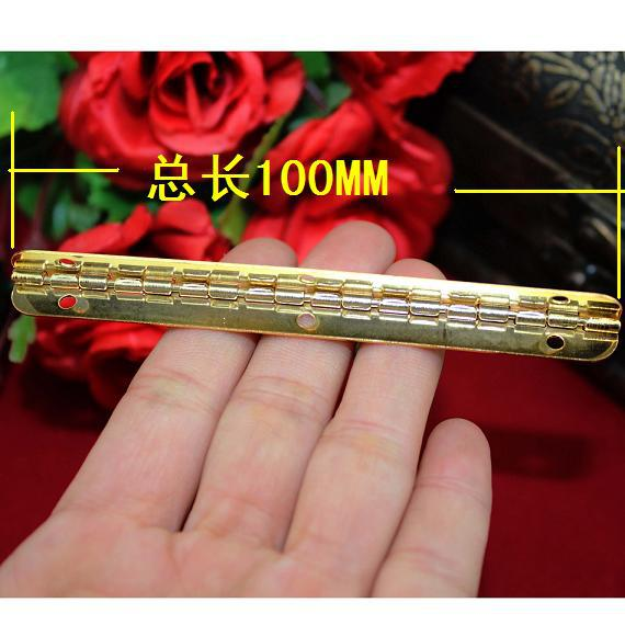 Seconds Kill Top Fasion 100 * 9mm Imitation Gold Hinge Strip 90 Degrees Inside Wooden Interior Support(China (Mainland))