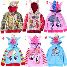 Free Shipping 2015 My Little Pony Girls Boy Sweatshirts Jackets Cotton Children Clothing Hoodies Coat Spring Autumn Kids Clothes(China (Mainland))