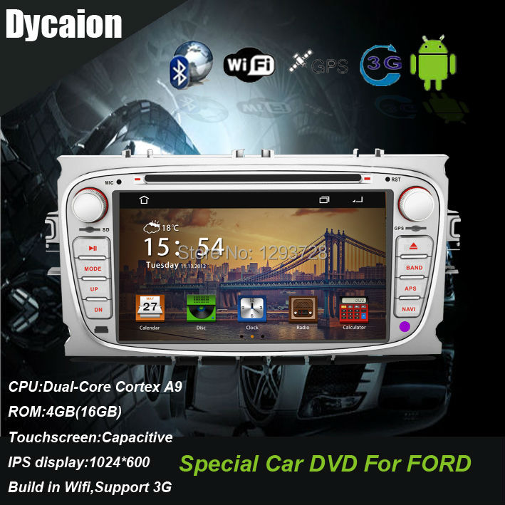 For ford mondeo Car dvd gps/3G WIFI Canbus DVB-T Gps navi/Google google map email facebook skype(China (Mainland))