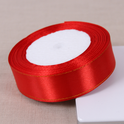 Silk Satin Ribbon Wedding 25 Yards Red Party Decoration Gift Wrapping Christmas New Year Decor Supplies
