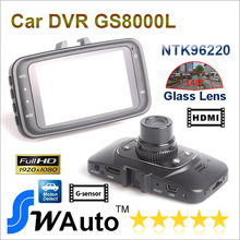 "Car DVR GS8000 Blackview camera Oringnal Novatek GS8000L 1920*1080P 25fps 140 wide Angle 2.7"" LCD G-Sensor HDMI Retail Box(China (Mainland))"
