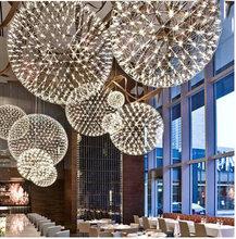 Luxury European-style Stainless Steel Chandelier LED Firework Light Ball Moooi Raimond Restaurant Living Room 110-240V(China (Mainland))