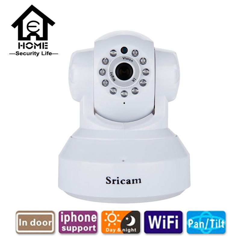 Sricam IP Camera WIFI 720P Home Security Surveillance System Onvif P2P Phone Remote 1.0MP Wireless Video Surveillance Camera(China (Mainland))