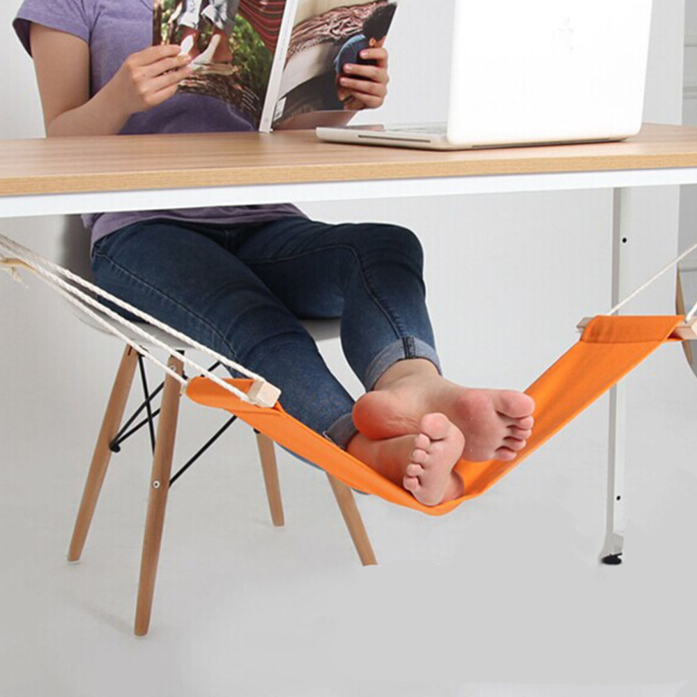 Office Foot Rest Stand Desk Feet Hammock Easy to Disassemble Study Indoor Orange<br><br>Aliexpress