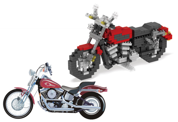 421 PCS Honda Motorcycle Mini Diamond Building Blocks Toys High Quality Motor Bricks Toys for Children