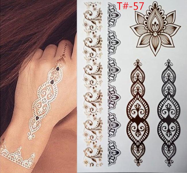 gold tattoo sex products bracelets tattoo metal temporary tattoo women flash gold Silver tattoos taty