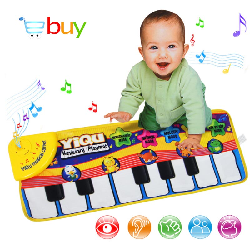 Large Baby Musical Carpet Keyboard Playmat Music Play Mat Piano Early Learning Educational Toys for Children Kids Puzzle Gifts(China (Mainland))