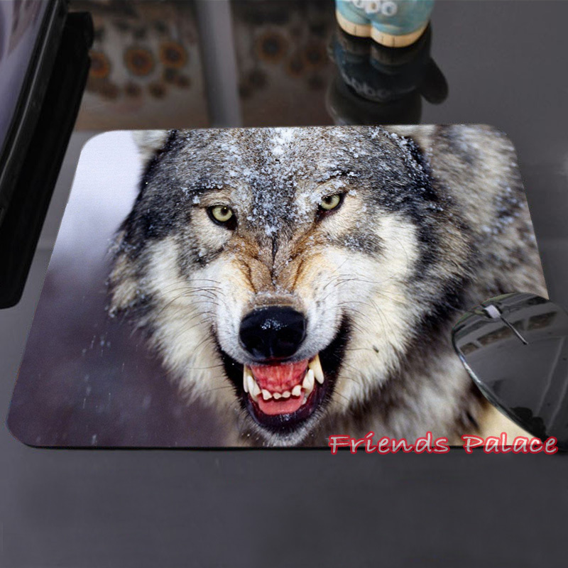 High Quality Customized Mouse Pad Wolves Wild Blue Night Desert Sunset Computer Notebook Durable Non-slip Animal Padded(China (Mainland))