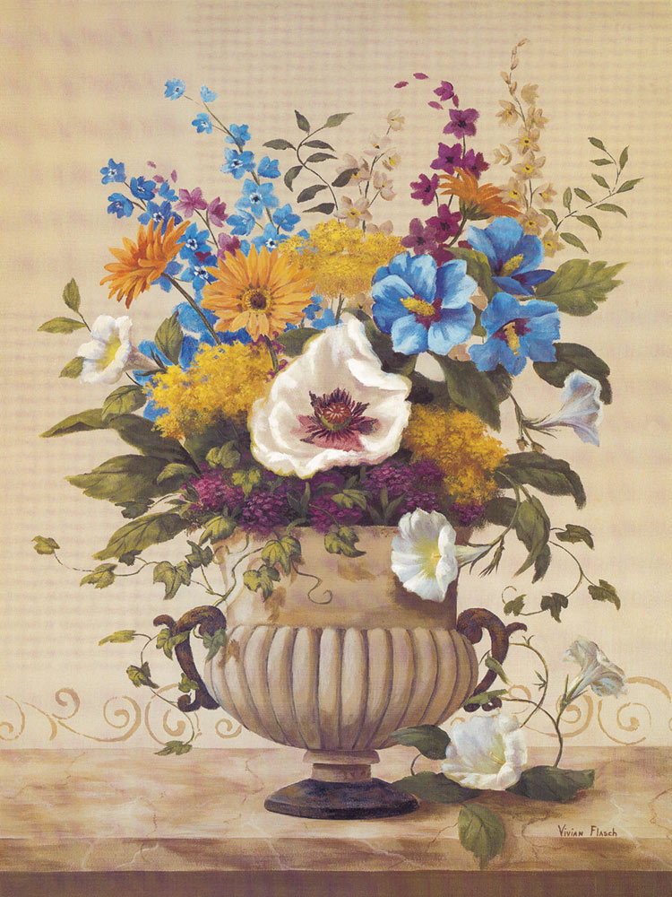 European classical decorative painting core flowers still life painting bedroom(China (Mainland))