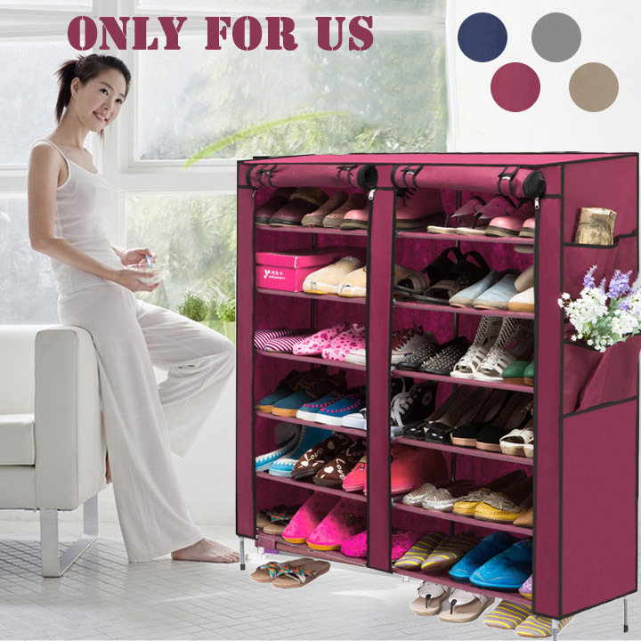 Homestyle Portable Home Shoe Rack Shelf Shoes Storage Rack Organizer Cabinet 6 Layer 12 Grid 4 Colors Shoes Closet(China (Mainland))