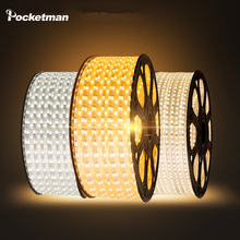Buy LED Strip Flexible light 60leds/m Waterproof led light SMD 5050 AC 220V +Power Plug 1M/2M/3M/4M/5M/6M/7M/8M/9M/10M/15M/20M ZK50 for $2.57 in AliExpress store