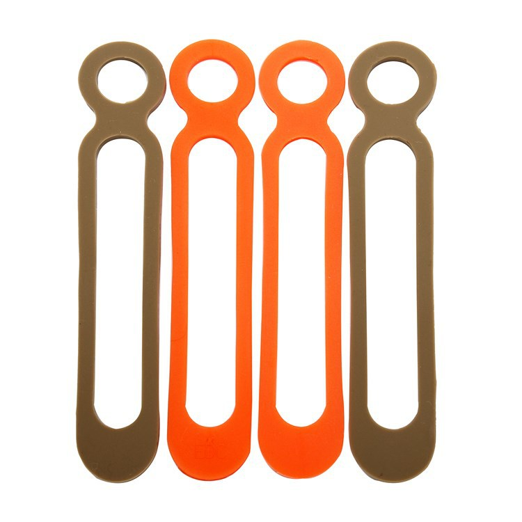 Camping EDC Gear 2PCS/lot DEC Tool Leggings Rope Binding Belt Food Grade Silicone High Elasticity(China (Mainland))